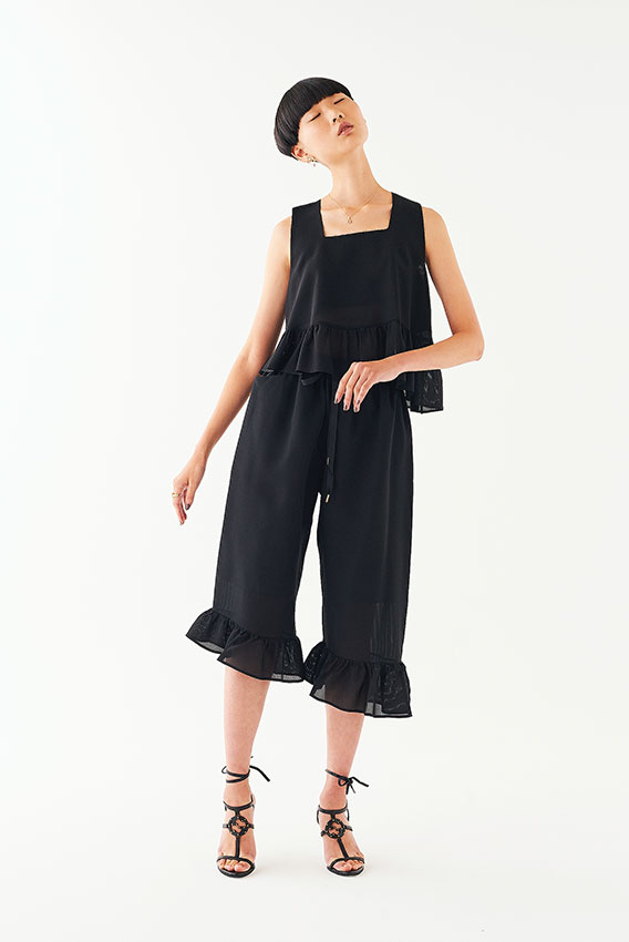 GotoAsato happiness19 Black Frilled Top, Black Frilled Trousers