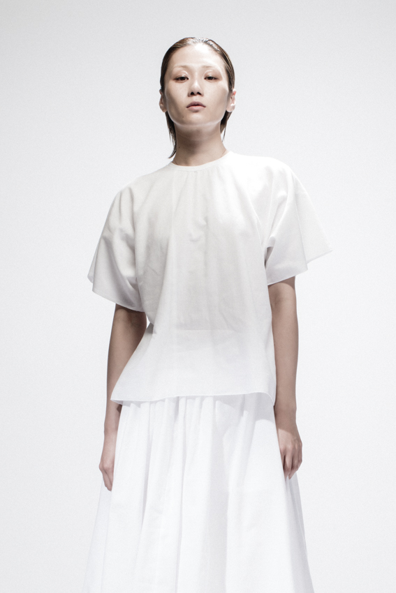 White Cotton T-shirt, White Cotton Skirt